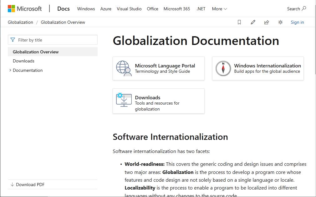 Microsoft - kompendium wiedzy o globalizacji